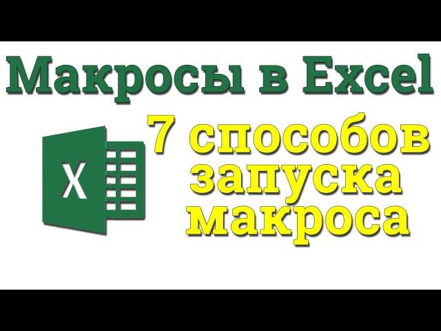 Урок 2 Макросы 7 Способов запуска макроса Академия Excel
