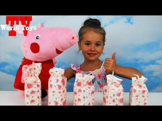 Молочный Челлендж со свинкой Пеппа Арина угадывает вкус молока Milk Challenge