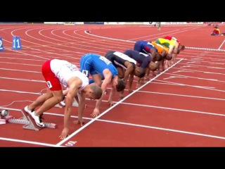 Men's 100m  Semifinal 2 European Athletics Championship Amsterdam 2016