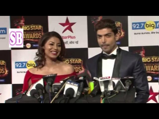 Gurmeet Chaudhary wife Deboleena Ila Arun At BIG STAR Entertainment Awards 2015
