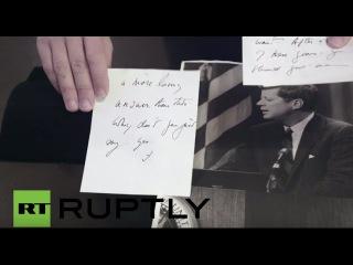 США: Тайная любовь письмо Джона Кеннеди жене офицера ЦРУ набор для аукциона в Бостоне.