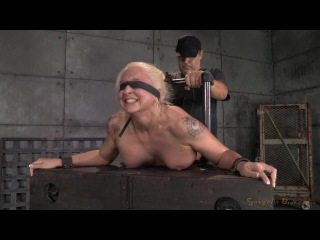Sexually Broken: Tan Busty Blonde Leya Falcon Bound And Bent Over, Rough Blindfolded Sex And Brutal