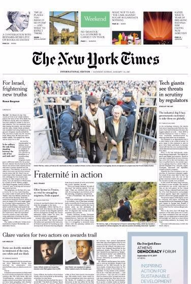 International New York Times - 7 January 2017