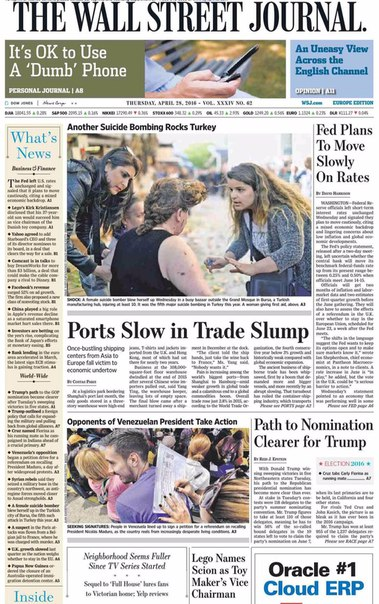 The Wall Street Journal Europe  April 28 2016