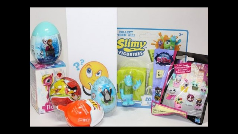 Kinder Mini Mix 12 LPS Slimy Figurines Sweet Box и др