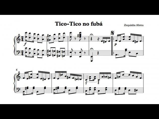 Tico-Tico no fubá Zequinha Abreu - P. Barton, piano