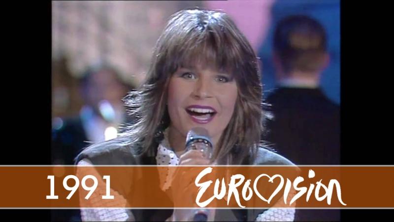 1991 Carola Fångad av en stormvind Швеция Eurovision Евровидение 36