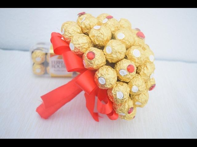 DIY Ferrero Rocher Blumenstrauß Valentinstag Geschenk
