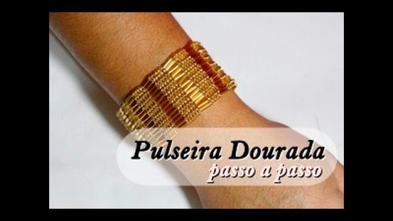 NM Bijoux - Pulseira Dourada - passo a passo