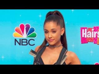 Ariana Grande & Dove Cameron at the Hairspray Live Press Junket