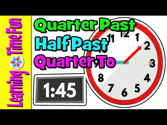 Telling the Time Time for Kids Quarter Past Half Past Quarter To Digital Clock Analog Clock