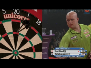 Dave Chisnall vs Michael van Gerwen (European Darts Grand Prix 2017 / Semi Final)