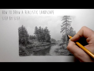 How To Draw a Realistic Landscape | Step by Step