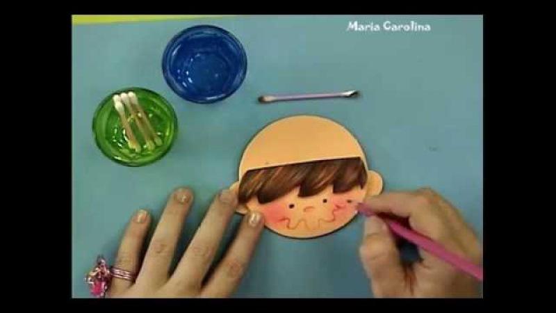 1 Maria Carolina Rugero Cotillon de varon en foamy Tecnica creyon 1 2