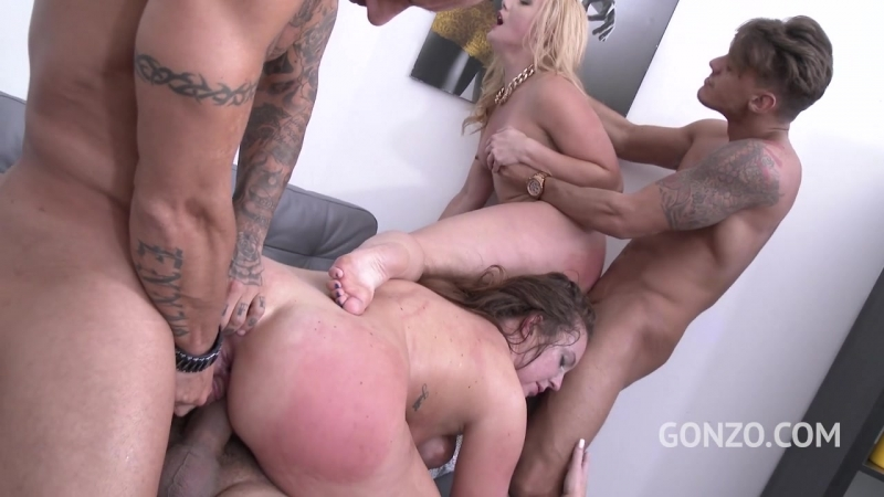 Maddy OReilley first DAP with AJ Applegate showing her how its done SZ1567  legalporno anal dp gangbang