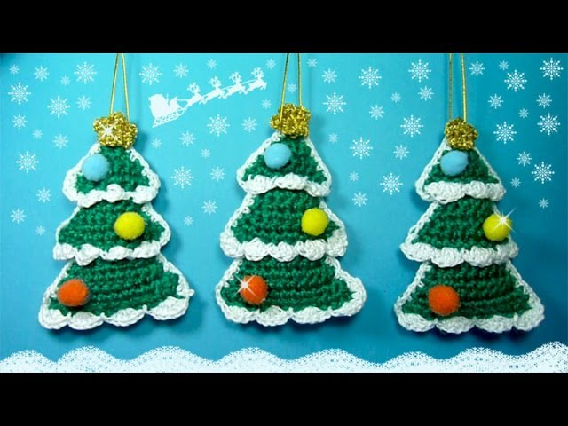 ABETO DECORATIVO de Ganchillo para Árbol de Navidad