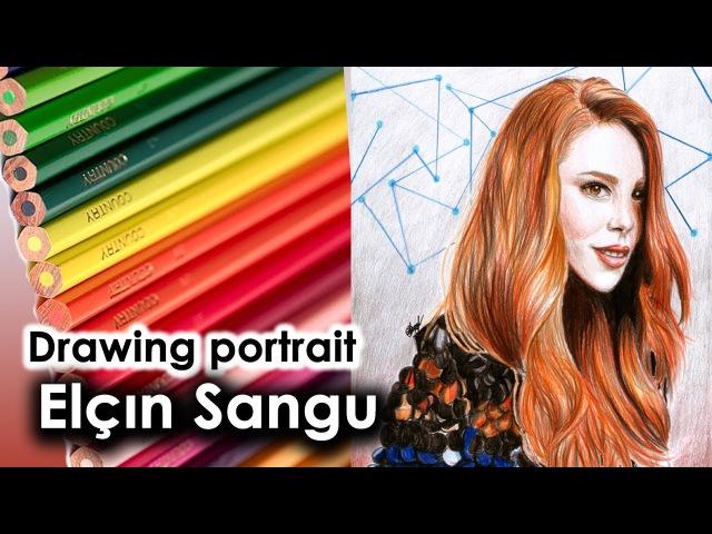 Elçın Sangu speed drawing - Elçın Sangu portre *Defne* Kıralık Aşk