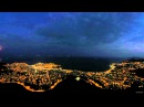 Full moon rise over Kavala city, Greece (9-9-2014)