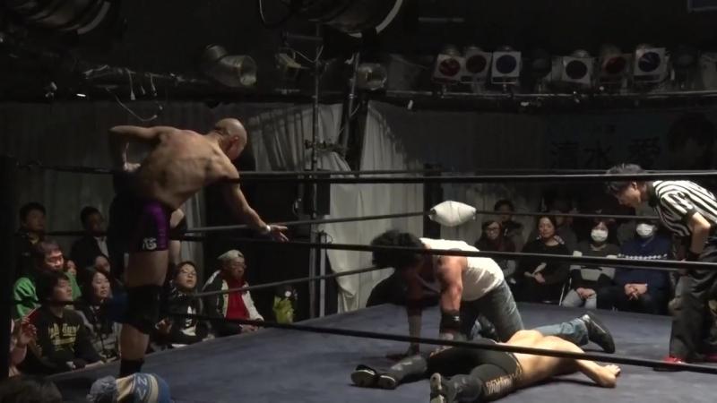 Ken Ohka Shuichiro Katsumura vs Kenso Ohka KENSO Osamu Namiguchi DDT Ganbare Pro Wrestling I'm Proud 2017