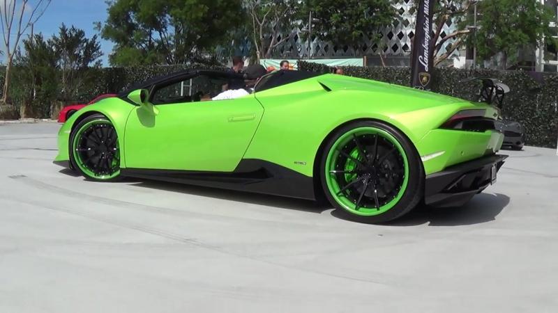 Lamborghini Huracan Spyder LP610-4 Green BEAST at Exotics Espresso by Lamborgh