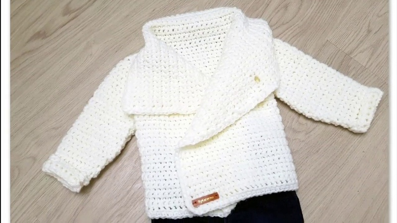 SnowDrop Cardigan crochet tutorial.