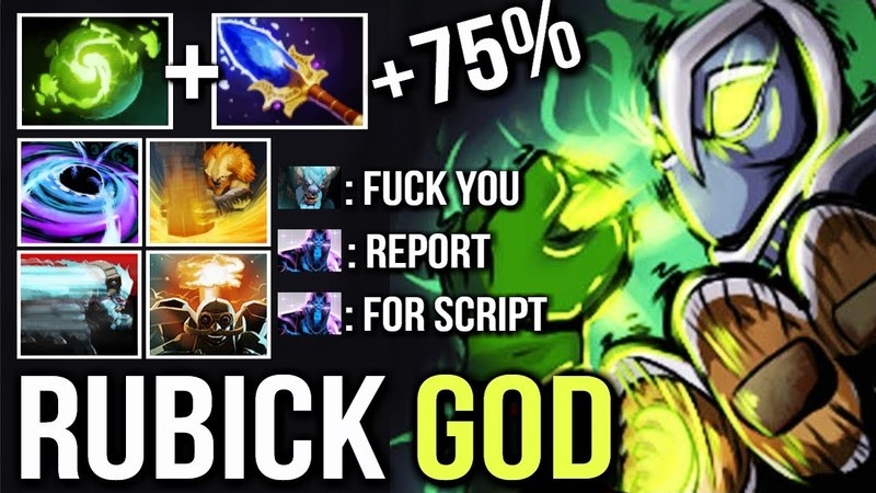 OMG One of The Best Rubick in the World 2x Black Hole 75% Damage by DJ Crazy Moves WTF Dota 2