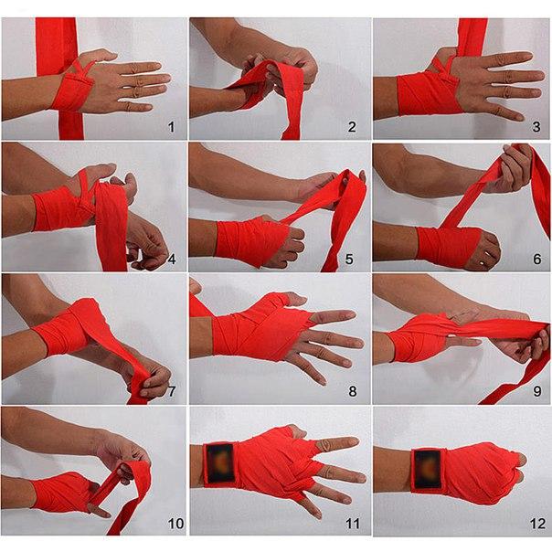 картинка как завязывать боксерские бинты руки форме сердца