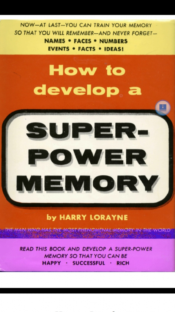 How to Develop A SUPER-POWER MEMORY - Harry Lorayne