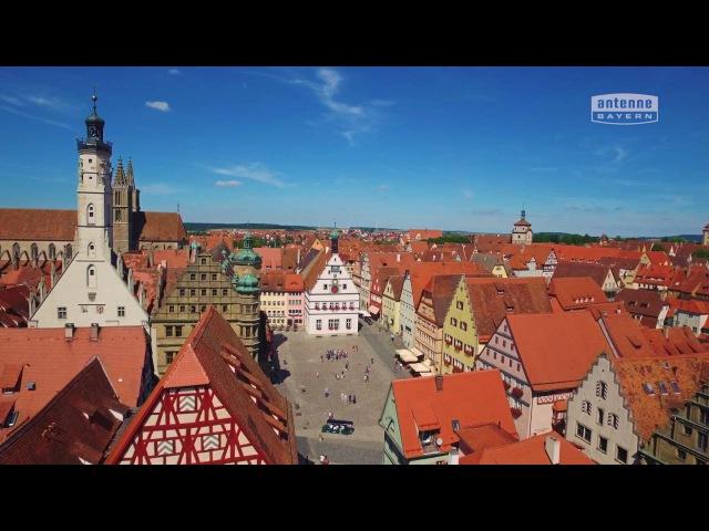 Rothenburg ob der Tauber von oben ANTENNE BAYERN Bayern von oben