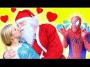 Эльза против розовый Девушка паук СВАДЕБНОМУ битва за Человек паук Смешные кино...