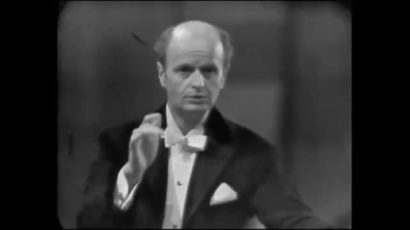 Ferenc Fricsay rehearses and conducts Smetana`s Moldau
