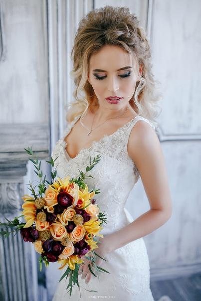Свадебная прическа макияж воронеж цены