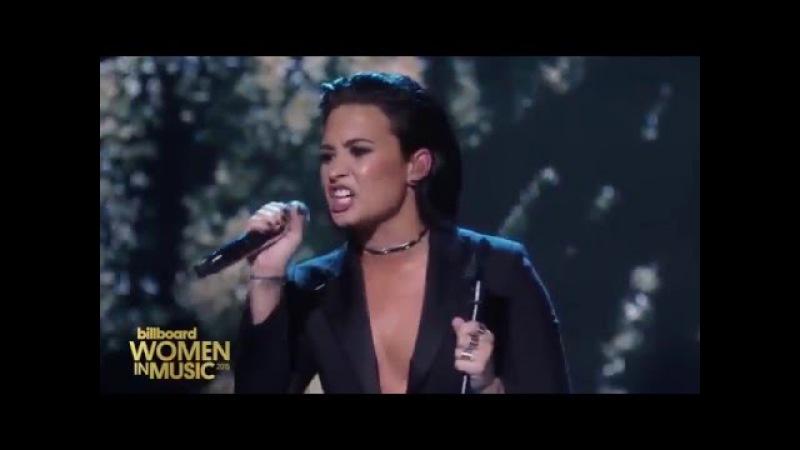 Demi Lovato Stone Cold Live at Billboard's Women In Music