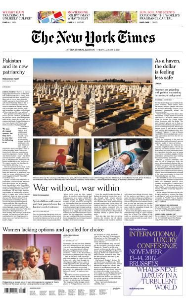 International New York Times 11 August 2017