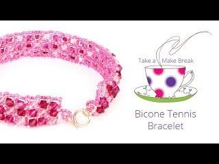 Bicone Tennis Bracelet | Take a Make Break with Sarah