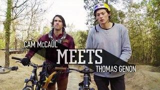 McCaul meets freeride mountain biker Thomas Genon.