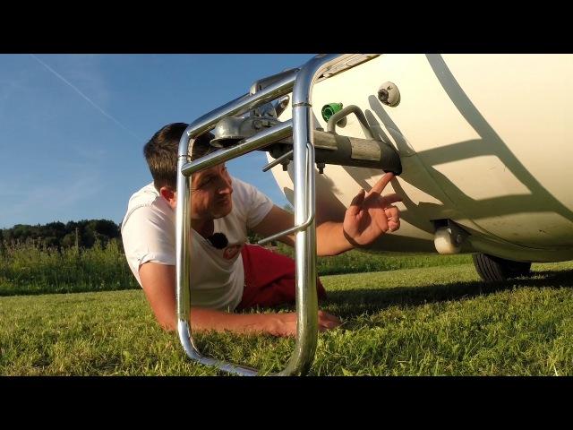 Test 2 Sealander Schwimm-Caravan - Mängel, Modifikationen und Tipps