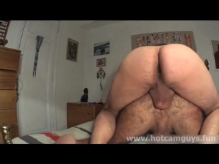 Chilean daddy gets fucked hard and creampied
