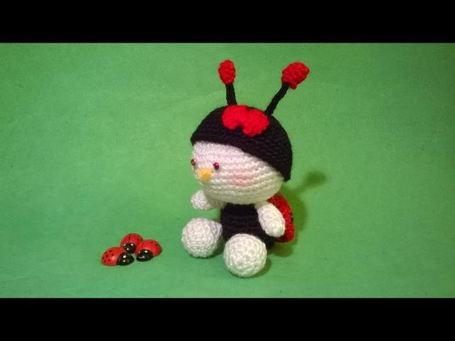 SUBTITULOS ESPANOL ENGLISH Tutorial Amigurumi Ladybug Crochet Mariquita Joaninha Croche Coccinella