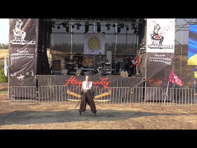 OTAMAN ROK FEST, opening, сossack Kolobrod (sabers), 26.08.2017.