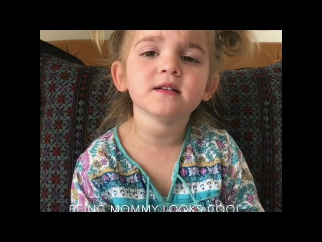Mila on being a mommy at two years old