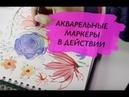 Учимся рисовать цветы японской акварелью и маркерами Akashiya
