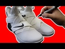 Drawing LEBRON on LEBRON SOLDIER XIIs! Drawing on SHOES Art CHALLENGE!