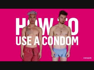 Condoms using