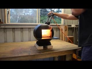 Пропановая кузница из баллона строительство кузнечного газовой горелки building a blacksmithing gas bottle propane forge burn