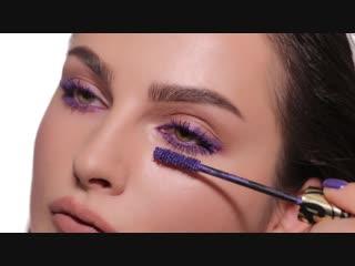 Relouis реклама фиолетовой туши MASCARAD