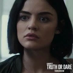 "Lucy Hale on Instagram: ""Tomorrow, you choose ! #TruthOrDareMovie"""