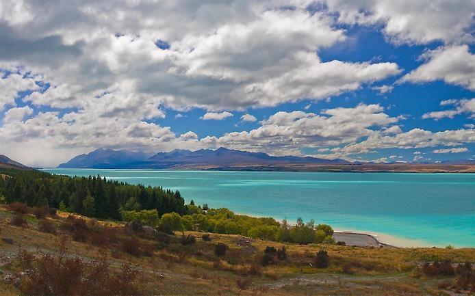 Озеро Пукаки в Новой Зеландии, изображение №4