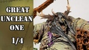 1 4 How to paint Great Unclean One Base colours by airbrush
