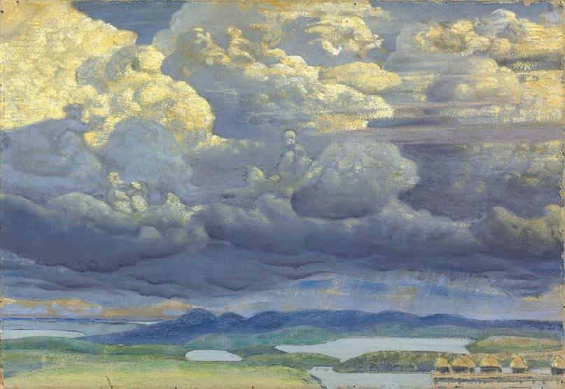 Н.К. Рерих «Небесный бой» 1909